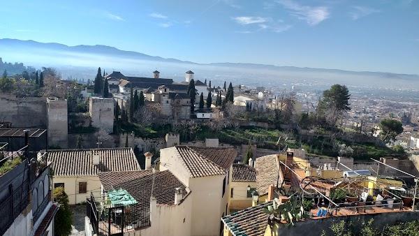 Popular tourist site Mirador de San Cristobal in Granada