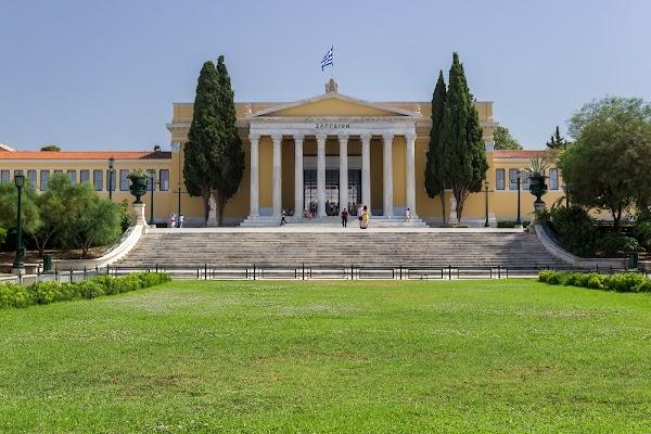 Popular tourist site Zappeio Hall in Athens