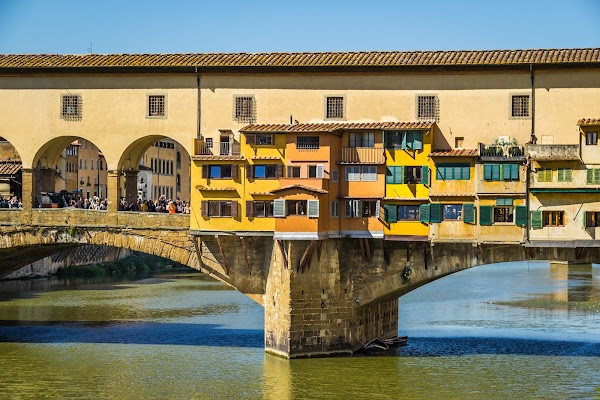 Popular tourist site Ponte Vecchio in Florence