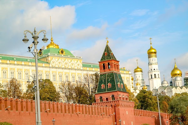 Popular tourist site The Moscow Kremlin in Moscow