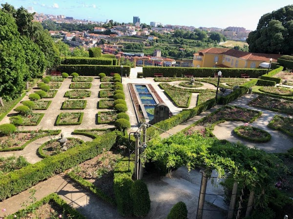 Popular tourist site Jardins do Palácio de Cristal in Porto