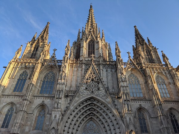 Popular tourist site Cathedral of Barcelona in Barcelona