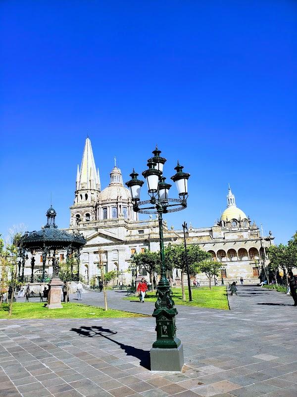 Popular tourist site Plaza de Armas in Guadalajara