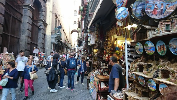 Popular tourist site San Gregorio Armeno in Naples