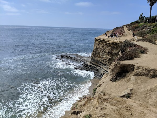 Popular tourist site Sunset Cliffs Natural Park in San Diego