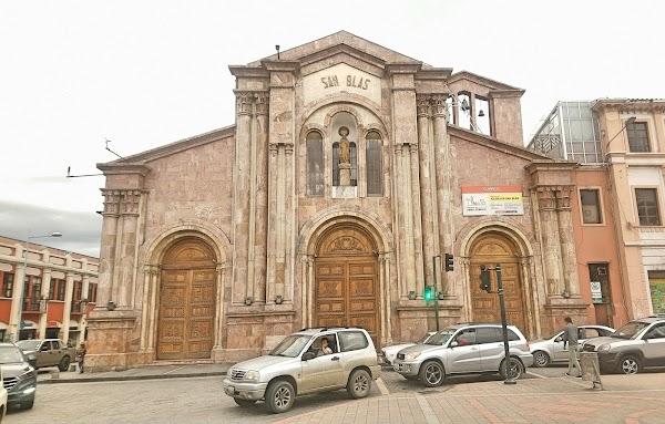 Popular tourist site San Blas Church in Cuenca