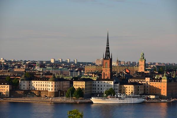 Popular tourist site Skinnarviksberget in Stockholm