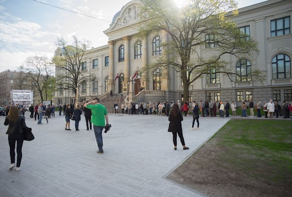 Popular tourist site Latvian National Museum of Art in Riga