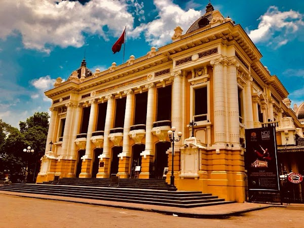 Popular tourist site Hanoi Opera House in Hanoi