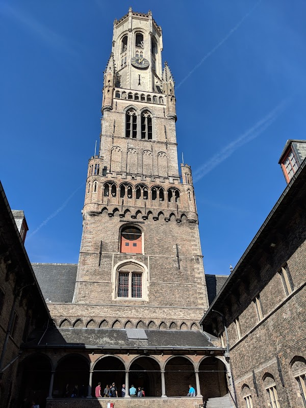 Popular tourist site Belfry of Bruges in Bruges