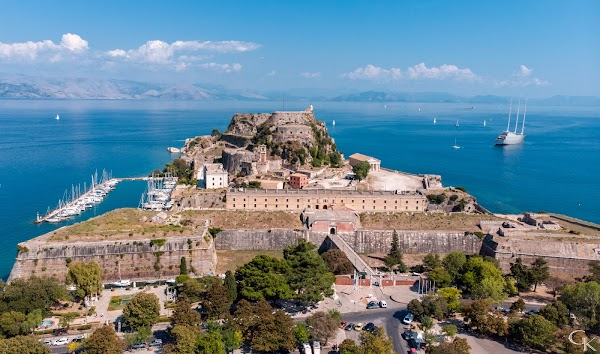Popular tourist site Old Venetian Fortress in Corfu