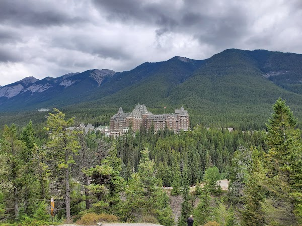 Popular tourist site Surprise Corner Viewpoint in Banff
