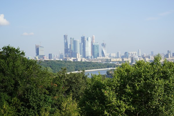 Popular tourist site Sparrow Hills in Moscow