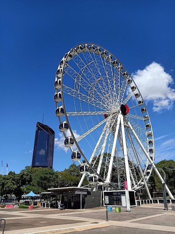 Popular tourist site The Wheel of Brisbane in Brisbane City