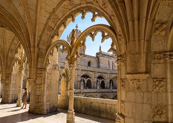 Popular tourist site Jerónimos Monastery in Lisbon