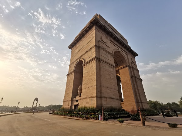 Popular tourist site India Gate in New Delhi