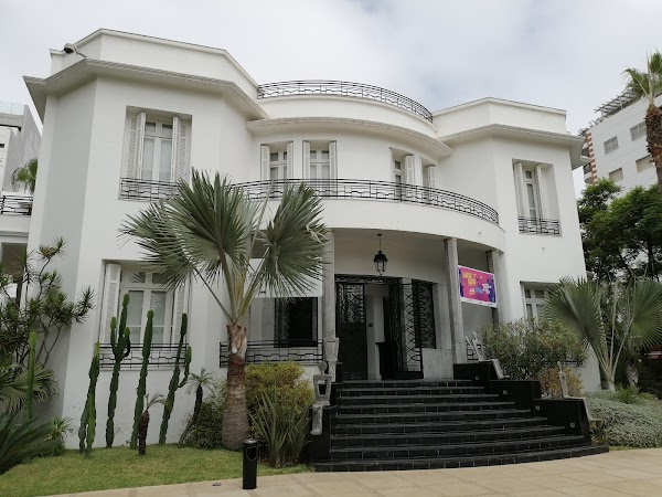 Popular tourist site Villa Des Arts in Casablanca