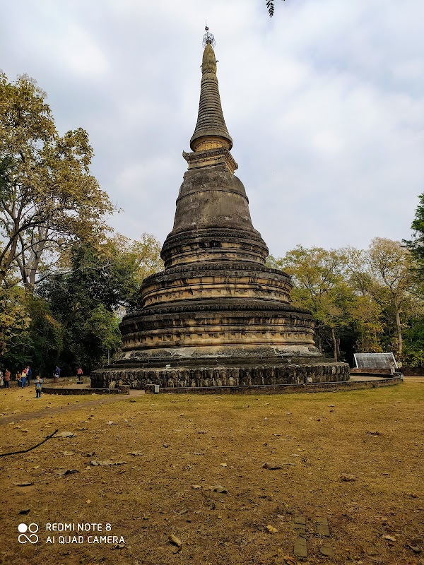 Popular tourist site Wat Umong Suan Phutthatham in Chiang Mai