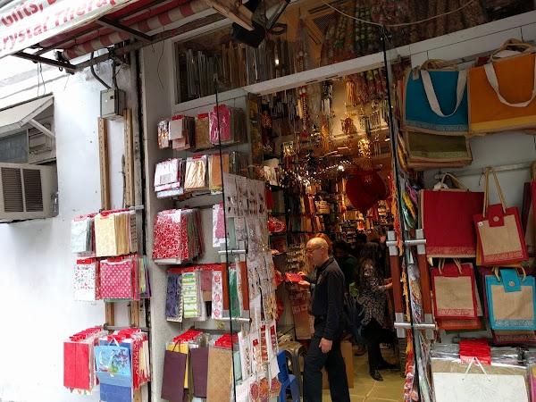 Popular tourist site Khan Market in New Delhi
