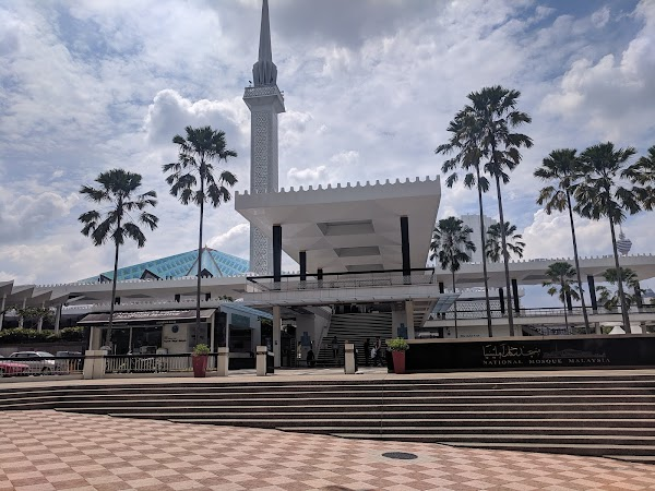 Popular tourist site National Mosque of Malaysia in Kuala Lumpur