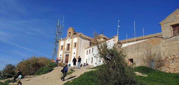Popular tourist site Ermita de San Miguel Alto in Granada