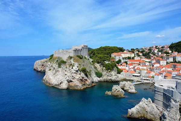 Popular tourist site Lovrijenac in Dubrovnik