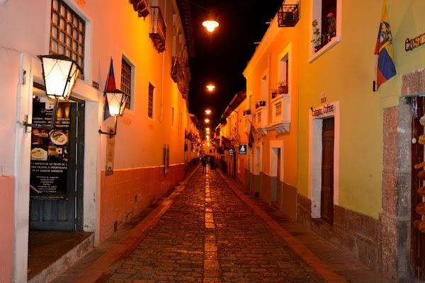 Popular tourist site Calle La Ronda in Quito