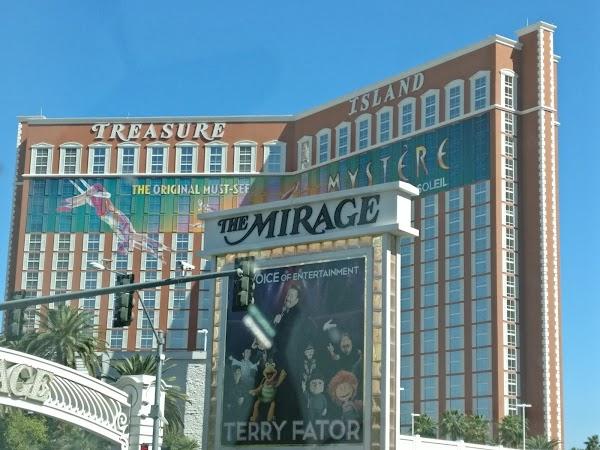 Popular tourist site The Mirage in Las Vegas