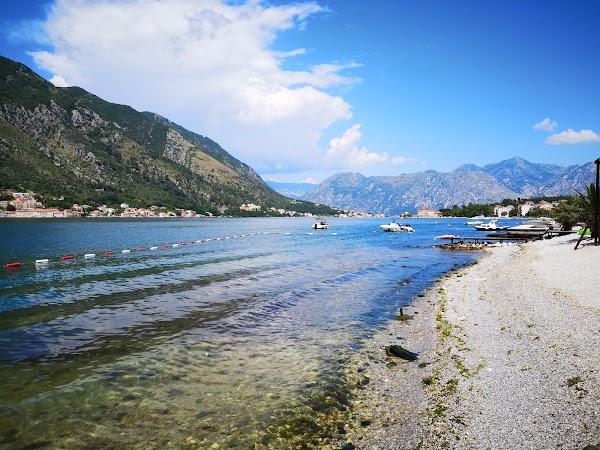Popular tourist site Kotor beach in Kotor