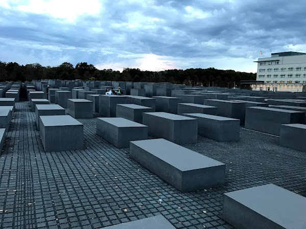 Popular tourist site Memorial to the Murdered Jews of Europe in Berlin