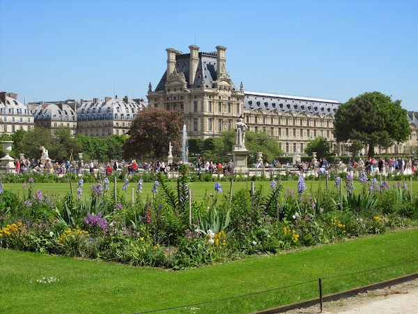 Popular tourist site Tuileries Garden in Paris