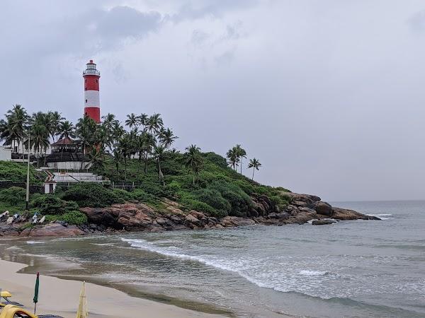 Popular tourist site Vizhinjam Lighthouse (Kovalam Lighthouse in Trivandrum