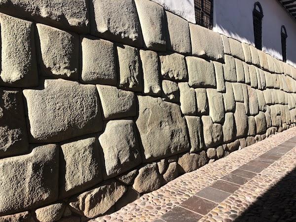 Popular tourist site Twelve Angled Stone in Cusco