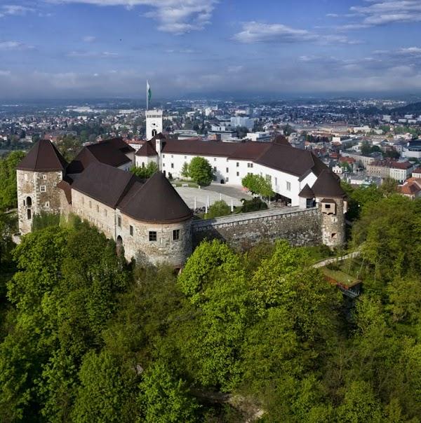 Popular tourist site Ljubljana Castle in Ljubljana
