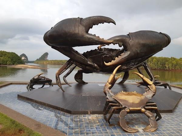 Popular tourist site Crab statue in Krabi