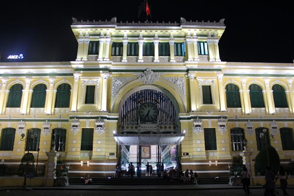Popular tourist site Saigon Central Post Office in Ho Chi Minh City