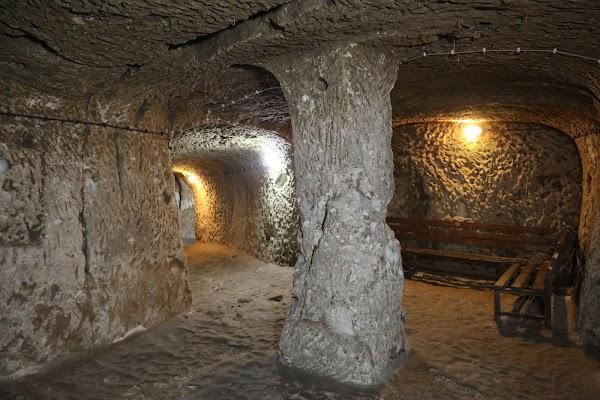 Popular tourist site Derinkuyu Underground City in Cappadocia