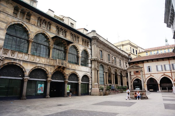 Popular tourist site Merchants Square in Milano