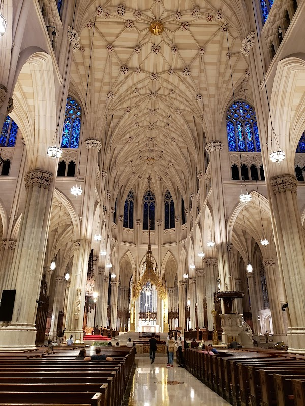 Popular tourist site St. Patrick's Cathedral in New York
