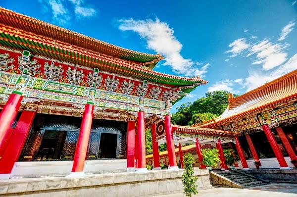 Popular tourist site National Revolutionary Martyrs' Shrine in Taipei