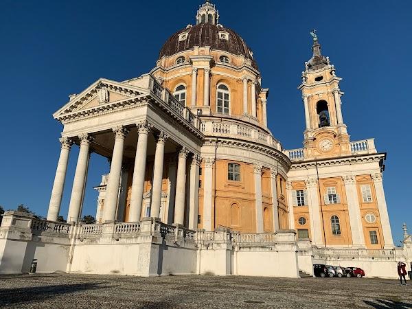 Popular tourist site Basilica of Superga in Turin