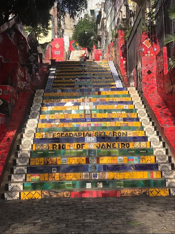 Popular tourist site Escadaria Selarón in Rio de Janeiro