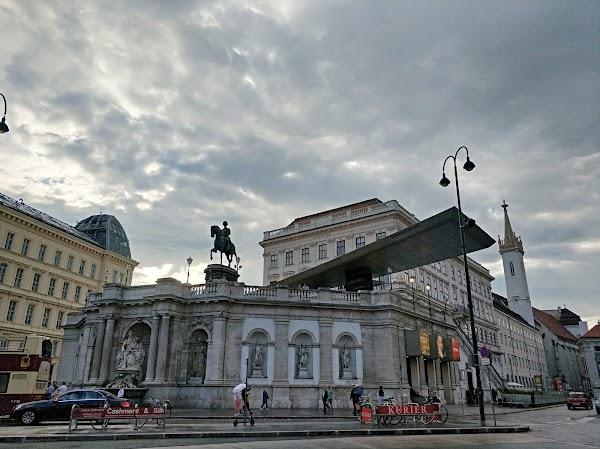 Popular tourist site Albertina in Vienna