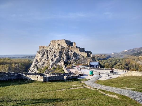 Popular tourist site Devín Castle in Bratislava