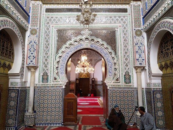 Popular tourist site Zaouia de Moulay Idriss in Fez