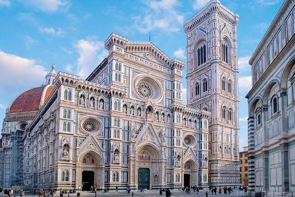 Popular tourist site Piazza del Duomo in Florence