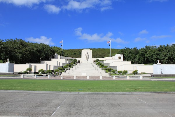 Popular tourist site National Memorial Cemetery of the Pacifi in Honolulu