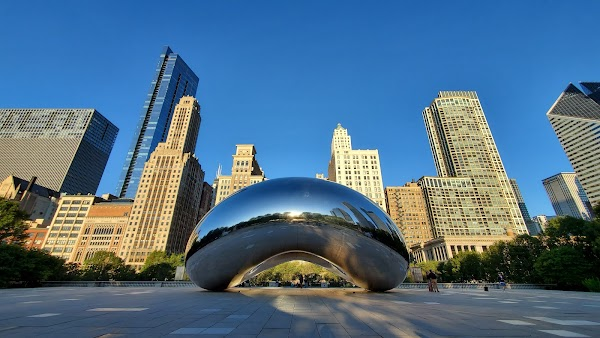 Popular tourist site Cloud Gate in Chicago