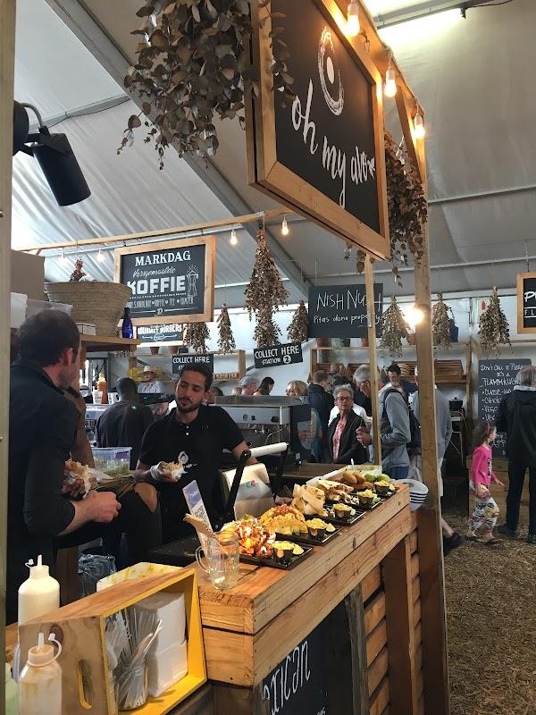 Popular tourist site Oranjezicht City Farm Market in Cape Town