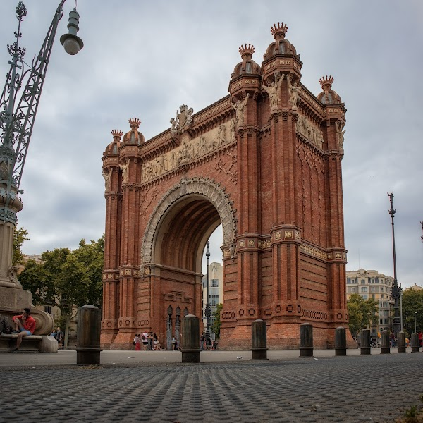 Popular tourist site Arco de Triunfo de Barcelona in Barcelona